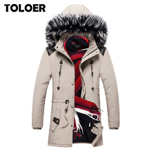 Winter Long Jacket Mens 2020 Casual Thick Long Fur Hooded Parka Men Brand Padded Parkas Male Cotton Army Military Outerwear Coat