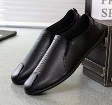 Мужские повседневные кожаные туфли итальянские лоферы дышащие