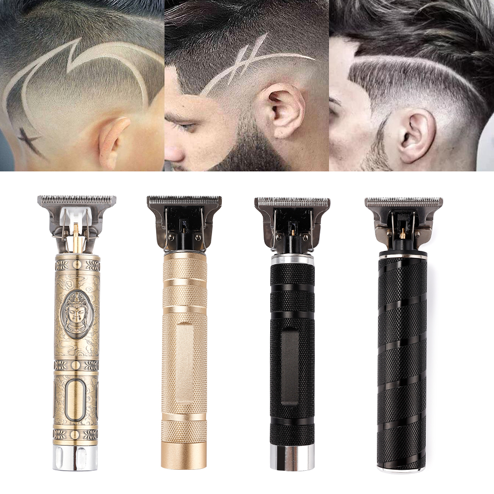 USB Ceramic Trimmer Hair Clipper Machine Professional T-Blade Barber Tool Hair Cutting Men Haircut Styling Hair Shaving Device