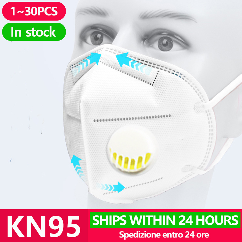[1~20PCS] KN95 Disposable Face N95 Surgical Filter Mask Anti Coronavirus Mouth Cover Facial Dust Pm2.5 Ffp3 Respirator Masks