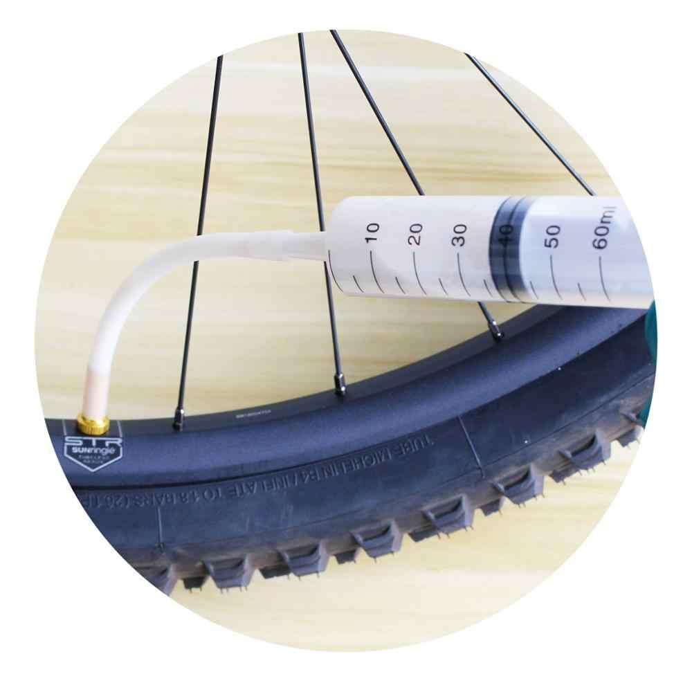 จักรยานยางยาง Sealant เข็มฉีดยา 60ml สายยางชุด/ขี่จักรยานวาล์ว/จักรยานยางสำหรับ MTB แผนที่จักรยาน