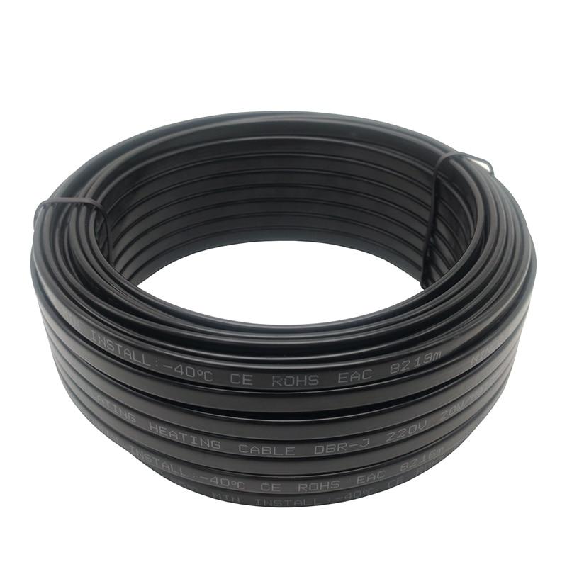 Шнур питания с европейской вилкой, 220 В, Саморегулирующийся нагревательный кабель для защиты от замерзания водопроводных труб, рептилий, домашних животных