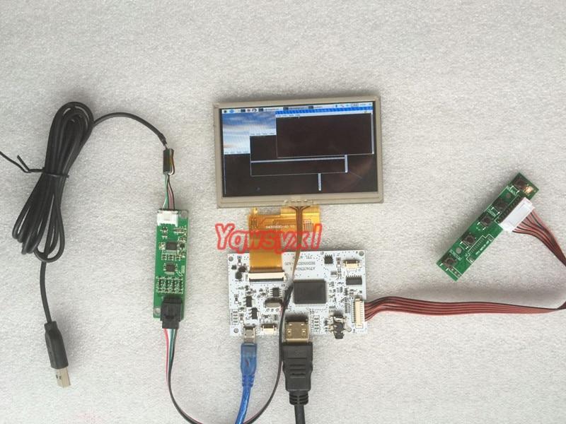 Yqwsyxl For Raspberry Pi 3 / B + RaspberryPi HD HDMI 4.3 Inch 800*480 LCD Screen Digital LCD Monitor Exquisite Edition