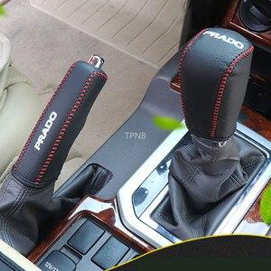 Image 2 - Ручка переключения передач из натуральной кожи, ручной тормоз для Toyota Land Cruiser Prado 150 2010 2012 2013 2014 2015 2016 2017 2018 2019 2020