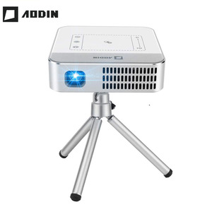 AODIN WOW 150 Ansi Lumen Wi-Fi Smart HD видео мини-проектор, портативный LED DLP ТВ-проектор 4K Stream 100000 + TV & Movies