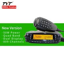 2005a versão tyt th9800 TH-9800 50w dupla exibição repetidor scrambler vhf uhf transceptor carro caminhão veículo rádio em dois sentidos