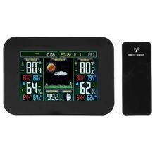 Hlzs-цифровой ЖК-экран Метеостанция Крытый Открытый Беспроводной датчик электронный измеритель температуры и влажности Датчик погоды Clo