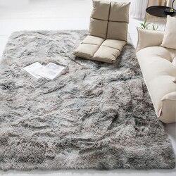 2019 moderno nórdico tie-dye gradiente tapete quarto sala de estar retangular tapete variegated macio e confortável área tapete cinza