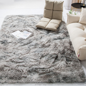 2020 Modern Nordic Tie-dye Gradient Carpet Bedroom Living Room Rectangular Carpet Variegated Soft Comfortable Area Carpet Gray(China)