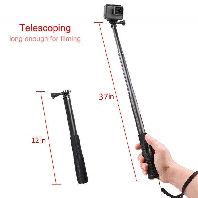 الألومنيوم المطاط للماء Selfie عصا ، للتمديد يده Monopod قابل للتعديل حامل ثلاثي الأرجل لكاميرا جو برو 7 6 5 4 و يي 4K ل DJI SJ