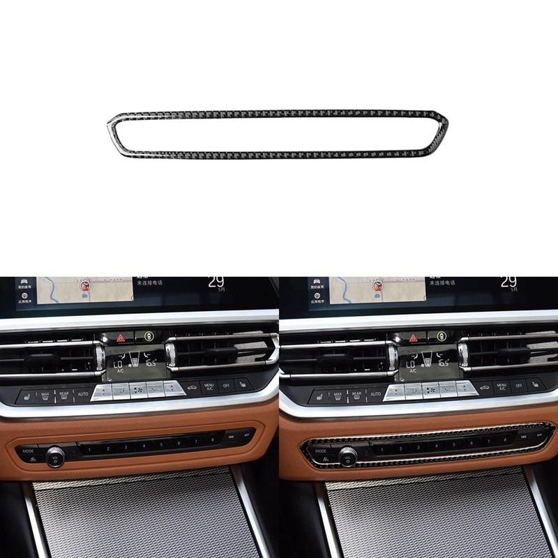 Carbon Fiber Center Console Button Cover Trim for BMW 3 Series G20 G28 2019-20