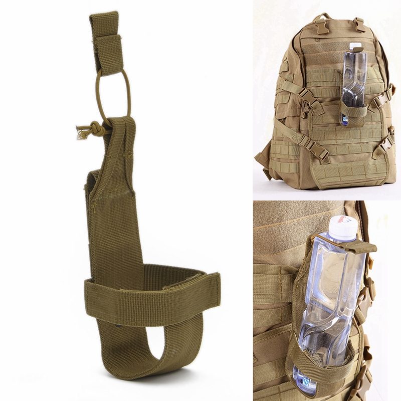 Outdoor Water Bottle Bag Tactical  Backpack MOLLE Water Bottle Cover Camouflage Wearable Hunting Hiking Camping Accessories
