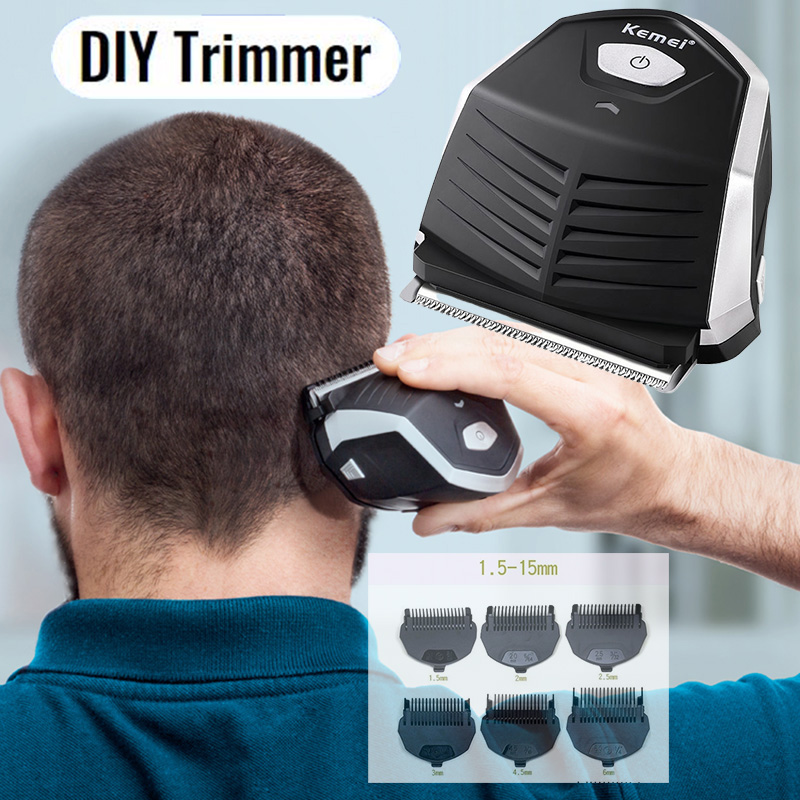 Kemei Hair Cutting Machine Beard Trimmer Cutter for Men's Grooming Clipper Cut Electric Haircut Shaver Self Hairclipper Mini