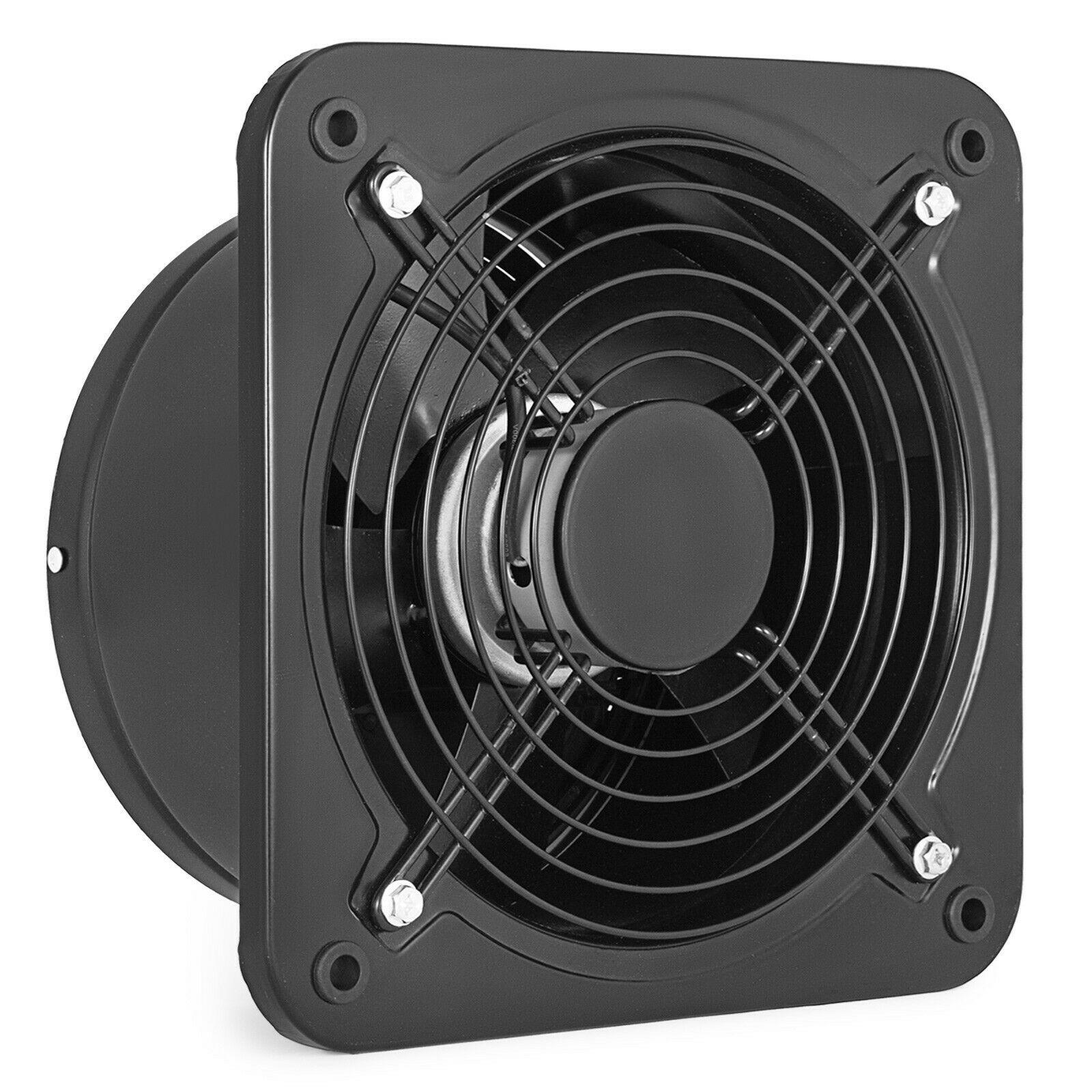 Industrial Ventilation Extractor Fan Metal Axial Exhaust Air 10 inch