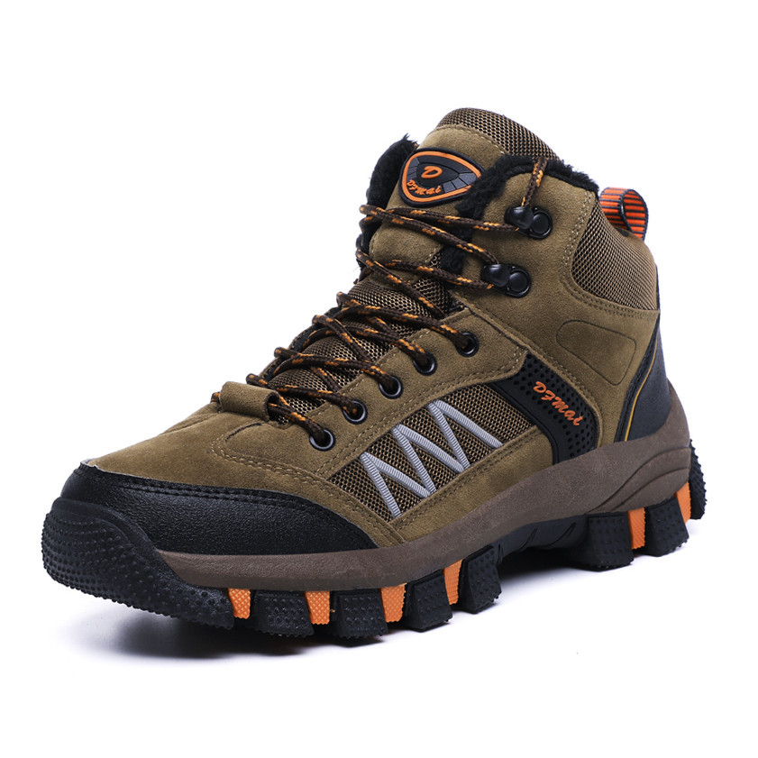 Men Boots Autumn Winter Mens Warm Plush Snow Boots Man Casual Fashion Shoes Outdoor Mountain Men Sneakers