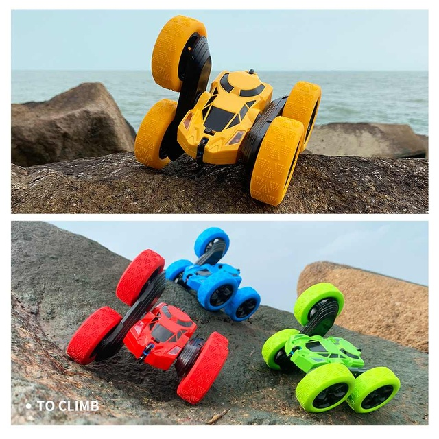 Pickwoo C7 RC Car 2.4Ghz 4CH 1:16 Stunt Drift Car Rock Crawler Remote Control Car 360 Degree Flip RC Vehicle Toys with LED Light 4