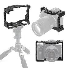 Aluminiowa kamera ręczna QR klatka dla Sony A7RIII/A7III/A7MIII SLR DSLR uchwyt do statywu fotografia zestaw do przedłużania rzęs