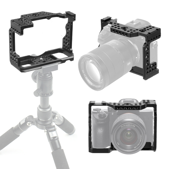 Aluminum QR  Handheld Camera Cage For Sony A7RIII/A7III/A7MIII SLR DSLR Mount Tripod Bracket Photography Extension Kit