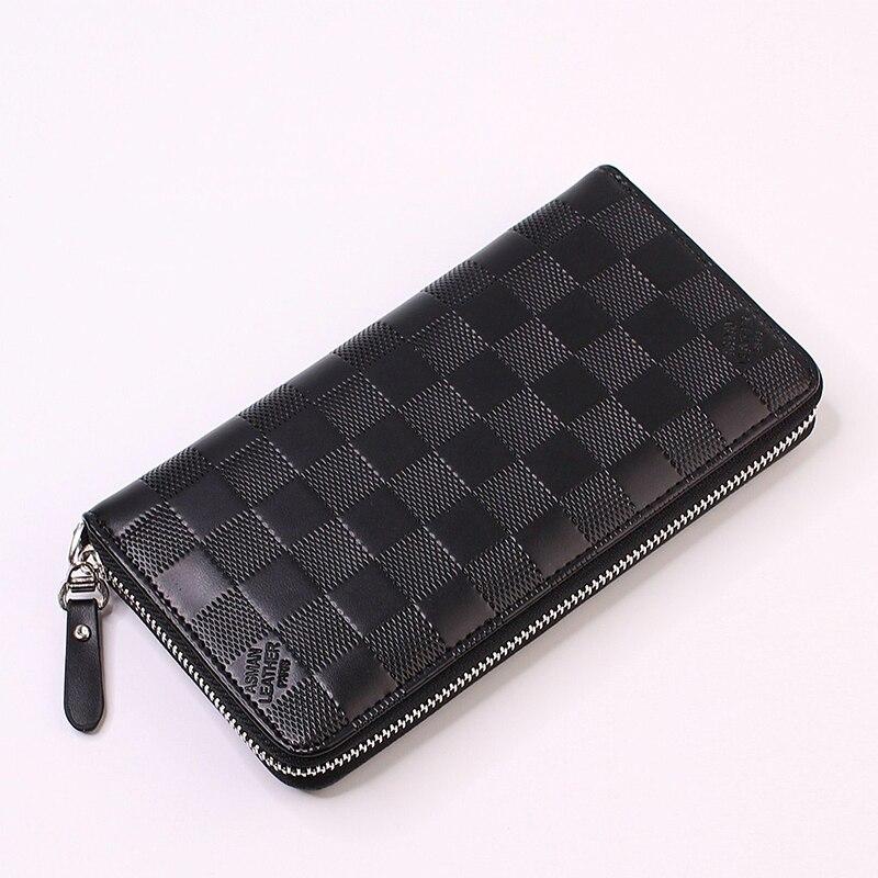 2019 Luxury Brand Men Wallets Long Wrist Strap Men Purse Wallet Male Clutch Leather Zipper Wallet Men Business Male Wallet Coin