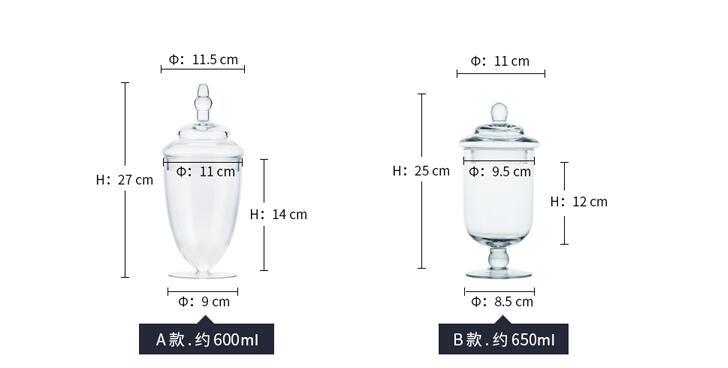 (5 teile/satz) Moderne West Europäischen Stil Starke Glas Lagerung Tank Glas Candy Jar Home Hochzeit Dekore Partei Versorgung-in Flaschen, Gläser & Boxen aus Heim und Garten bei  Gruppe 2