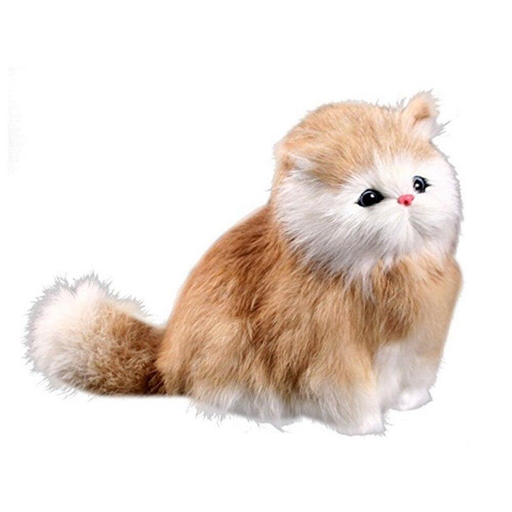 Simulation Sounding Cats Plush Toy Birthday Christmas Gift Electronic Pet Creative Home Decoration Kitten Models #B