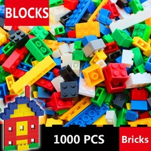 цена на 1000 Pcs Building Bricks Set DIY Creative Brick Kids Toy Educational Building Blocks Bulk Compatible with All Brands