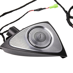 Image 2 - Car Interior 3/7/64 Colors Led Ambient Light 3D Rotary Tweeter Speaker Burmester For C Class W205 E Class W213 S Class W222