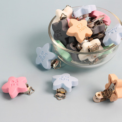 10 шт., зажим для соски в форме звезды, силиконовый Прорезыватель для зубов, застежка для сосков, игрушка «сделай сам», Детские Прорезыватели, ...