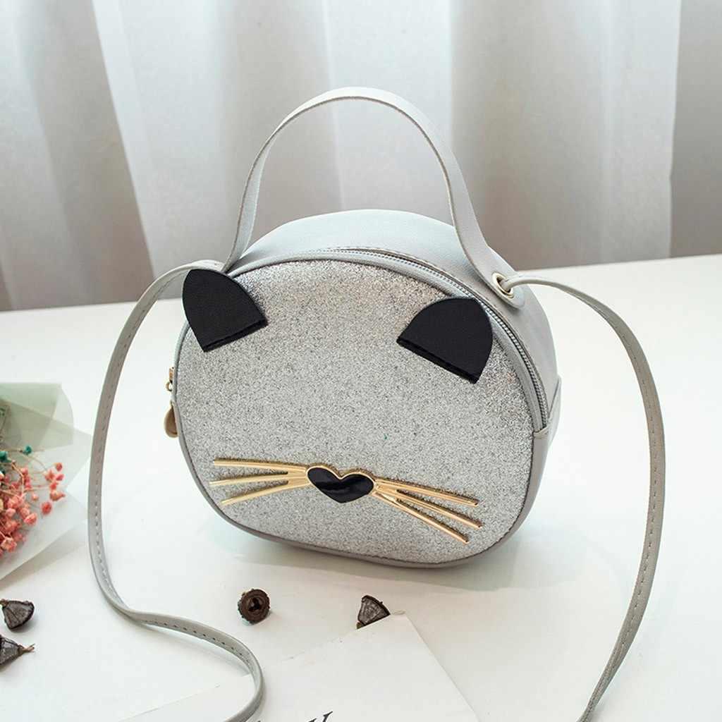 Damskie kotki małe torby na zewnątrz kobiece jednokolorowe cekiny torby na ramię moda damska PU skórzane torby kurierskie Bolso femenino