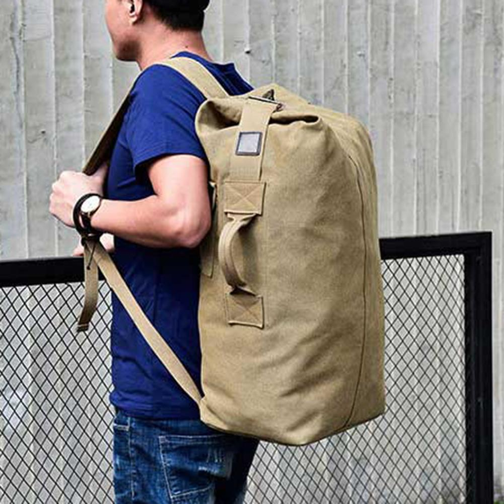 Outdoor Travel Luggage Army Bag Portable Men Solid Color Canvas Backpack Large Capacity Sport Rucksack рюкзак мужской