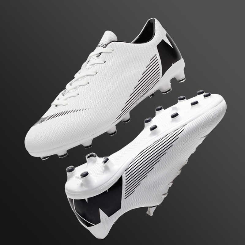 Boyutu 33-46 çocuklar erkekler kadınlar için açık çim Futsal Cleats uzun sivri fg futbol ayakkabıları klasik futbol kramponları eğitim Sneakers