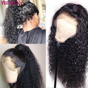 Yeswigs pré arrancadas perucas de cabelo humano do laço completo para as mulheres peruca encaracolado kinky peruca pruiken peruca cheia do laço remy peruca peruana