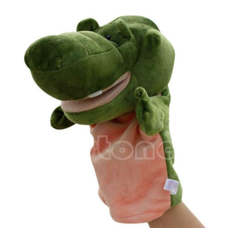 Learning-Aid-Toys Hand Puppet Animal Funny Cute Y1QF Plush-Velour Chic Designs Kid Children