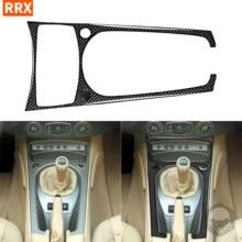 Для BMW Z4 E85 2003-2008 углеродного волокна наклейки Черный Цвет коробка передач Кнопка Панель отделка для переключения передач полосы интерьеры а...