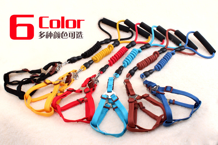 Pet Traction Rope Neck Ring Set Large Dog Golden Retriever Teddy Small Dogs Pet Supplies Dog Chain Dog Breast Collar