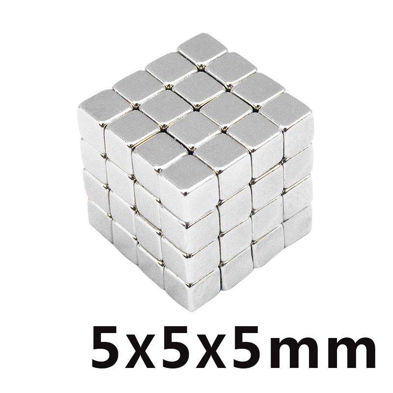 50/100/150pcs <font><b>5x5x5</b></font> Small 5*5*5 Strong Magnetic Permanent <font><b>Magnets</b></font> 5mm x 5mm x 5mm Rare Earth Super Powerful <font><b>Neodymium</b></font> <font><b>Magnet</b></font> image