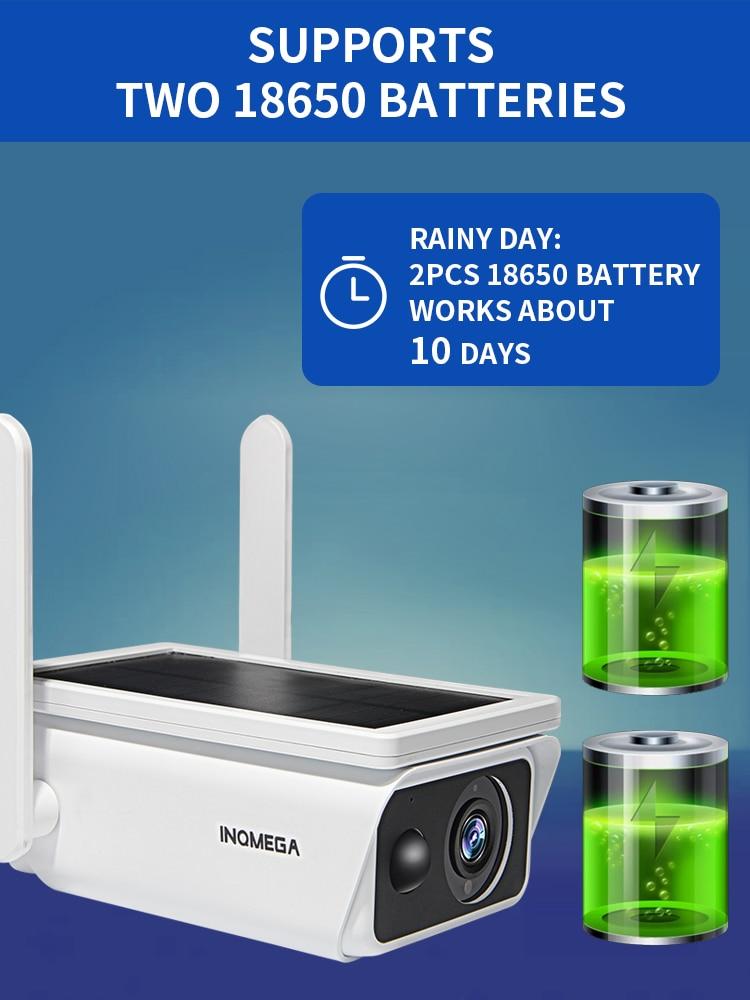 INQMEGA Niedrigen Power Solar kamera panel Akku 1080P Breite Ansicht überwachung kamera Volle HD Outdoor Indoor Sicherheit Wi
