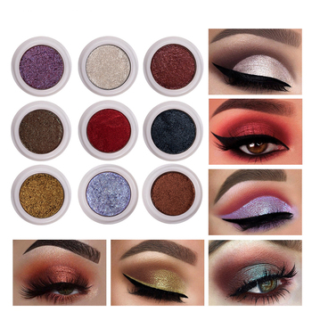 12 Colors Makeup Monochrome Polarized Pearlescent Not Blooming Eye Shadow Cream Eyeshadow Stamp