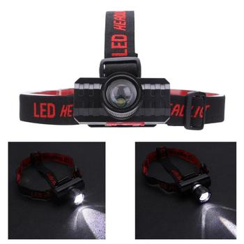 XPE LED Headlight 3 Modes Telescopic Zoomable Flashlight Torch with Battery Torch Camping Hiking Night Fishing Light Head Lamp