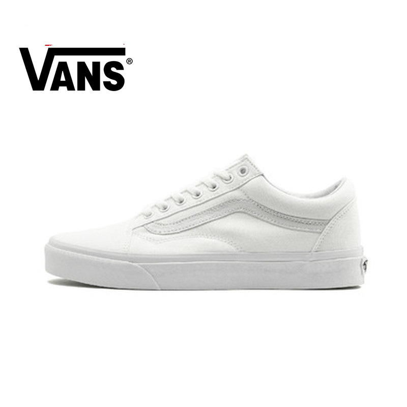 Original Authentic VANS Old Skool Men And Women Shoes Classic White Outdoor Street Style Fashion Trend Neutral 2019 VN000D3HW00