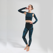 Newest Yoga Set Women Seamless Camouflage Long Sleeves Tops High Waist Leggings Fitness Sport GYM Camo Suits Tight Workout Pants