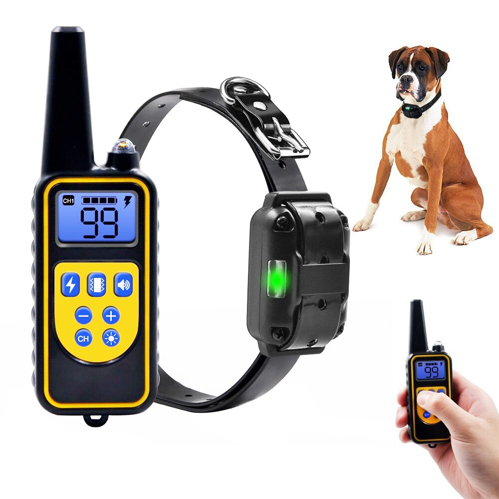 <font><b>Dog</b></font> <font><b>Electric</b></font> <font><b>Collar</b></font> 800m Pet <font><b>Remote</b></font> Waterproof Rechargeable With LCD Display For All Size Control <font><b>Collar</b></font> <font><b>Dog</b></font> <font><b>Training</b></font> <font><b>Collar</b></font> image