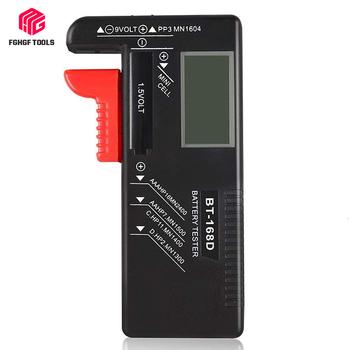 FGHGF 2 sztuk BT168D cyfrowy akumulator Tester pojemności LCD Checker dla 9V 1 5 V AA AAA komórki C D baterie narzędzie diagnostyczne tanie i dobre opinie Elektryczne BT -168D Tester Baterii gospodarstwa domowego
