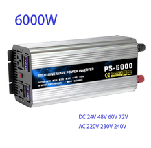 PURE Sine WAVE Power INVERTER 6000W DC12/24/48/60/72V to AC220/230/240V 50HZ60HZ off Grid อินเวอร์เตอร์ AC Charger UPS Function(China)