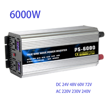 Pure Sine Wave Power inverte 6000W DC12/24/48/60/72V to AC220/230/240V 50HZ60HZ off grid inverter with ac charger UPS function