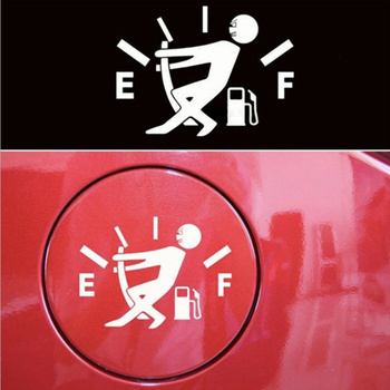 Personalized Little People Fueling Oil Gauge Car Sticker for bmw f20 mercedes kia sportage peugeot 3008 ford ecosport focus 2 image