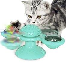 Pet проигрывания ветряная мельница кошка игрушка котенок жевать