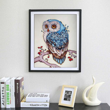 2017 5D Full Diamond Plated 20*30cm Embroidery Animal Owl Pattern Painting Cross Stitch 5D DIY Diamond Painting for Living Room стоимость