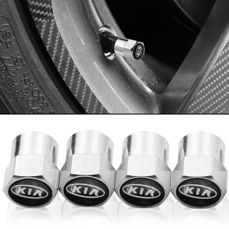 4 PCS Wheel Tire Parts Valve Stem Caps Cover For Kia Ceed Rio Sportage R K3 K4 K5 Ceed Sorento Cerato Optima 2015 2016 2017 2018
