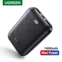 Ugreen power bank 10000 mah carregador portátil de bateria móvel externa carregador rápido do telefone para xiaomi samsung s10 mini powerbank Baterias Externas     -